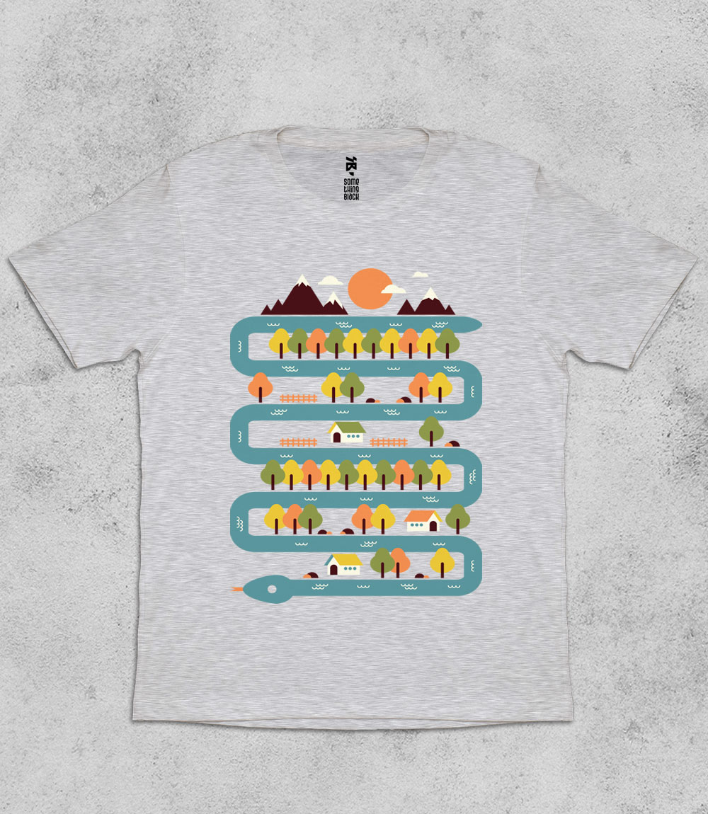 Snake River - Mens T-shirt