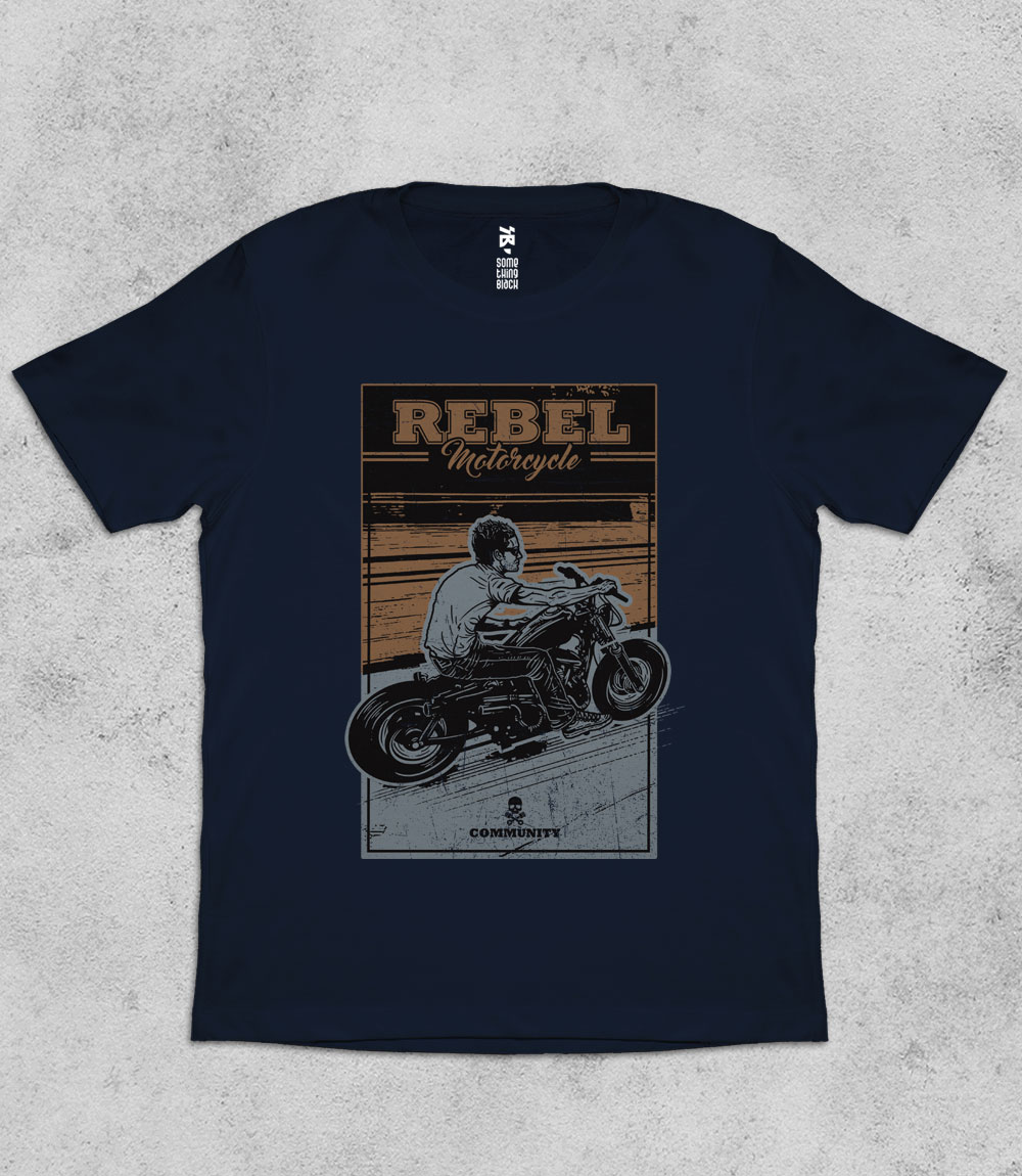 Rebel Motorcycle - Mens T-shirt