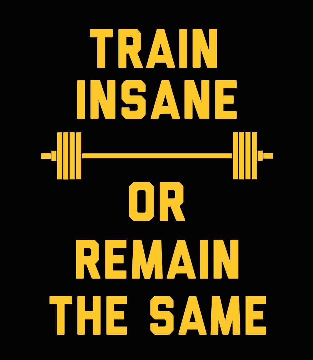 Train Insane- Mens T-shirt