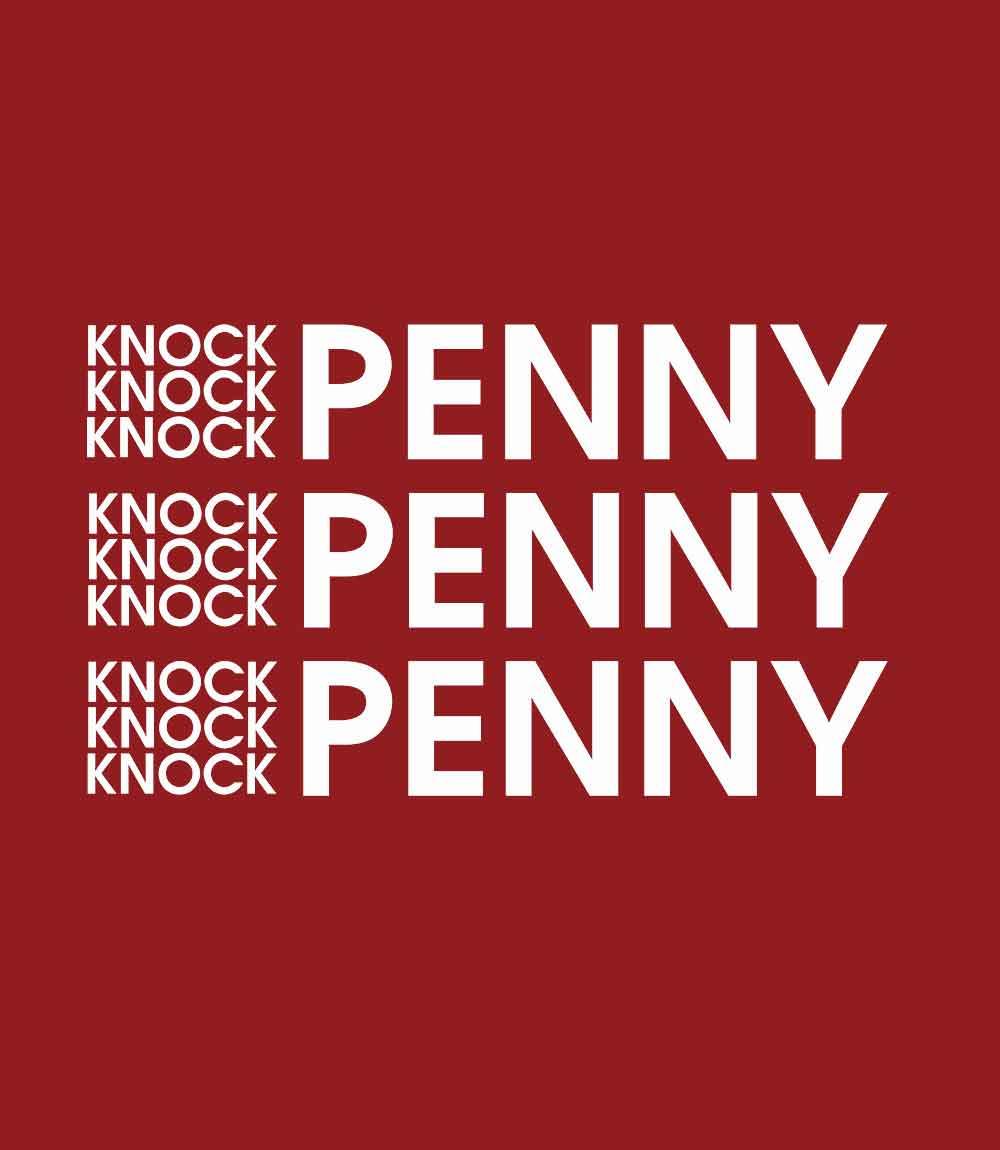 Knock Knock Penny- Mens T-shirt