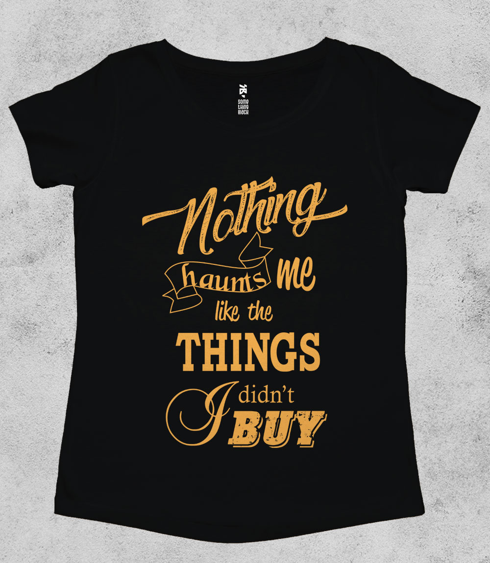 Shopoholic Woes- Womens T-shirt