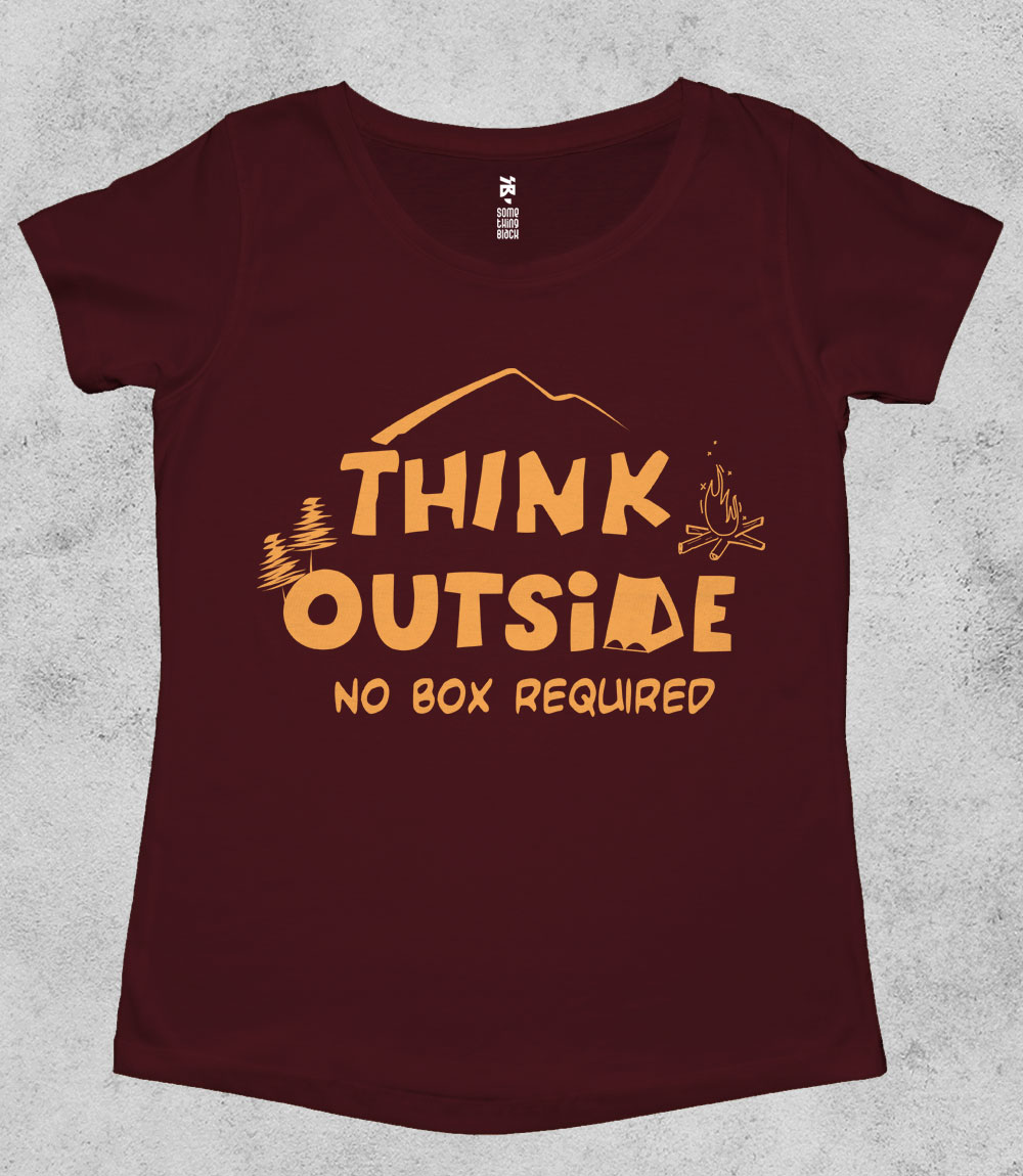 Think Outside- Womens T-shirt