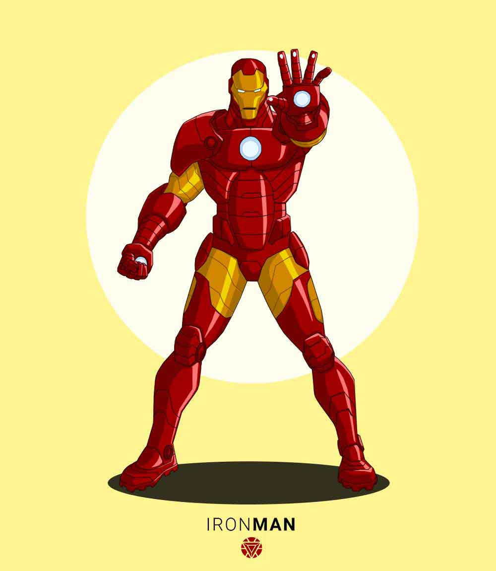 Iron Man- Mens T-shirt