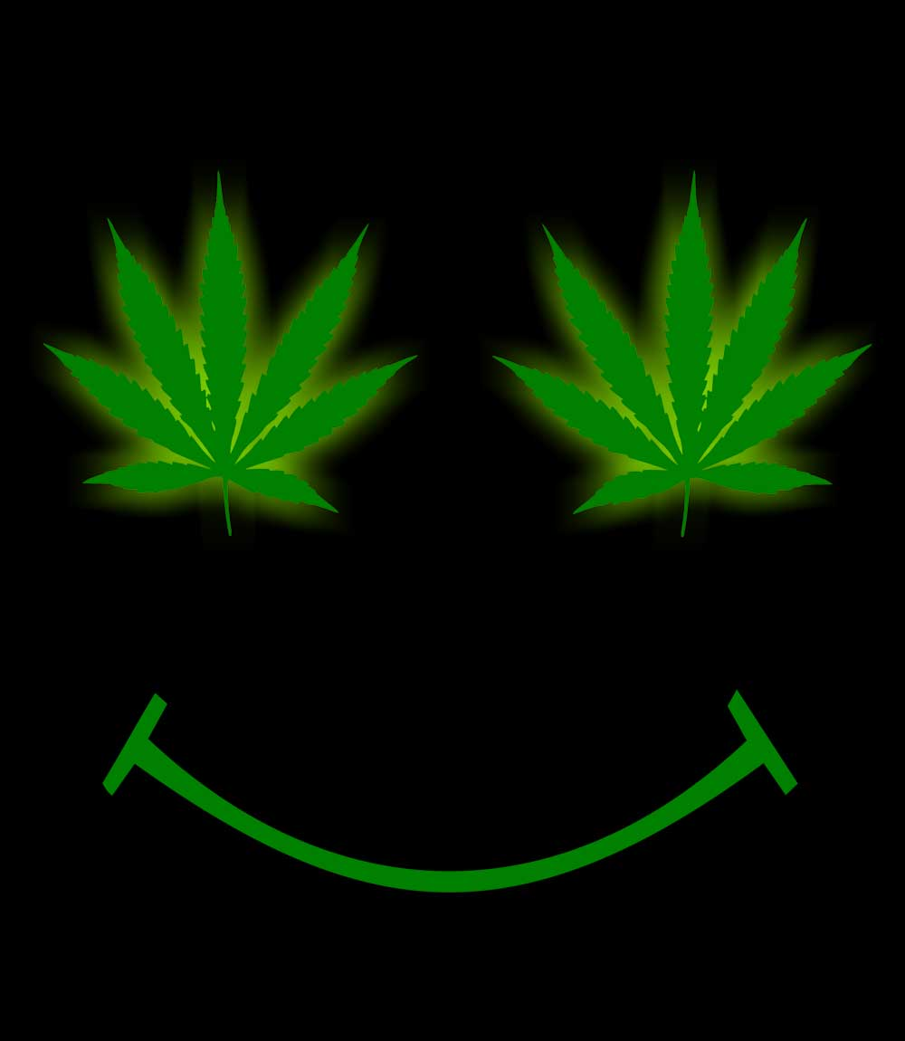 Weed smiley- Mens T-shirt