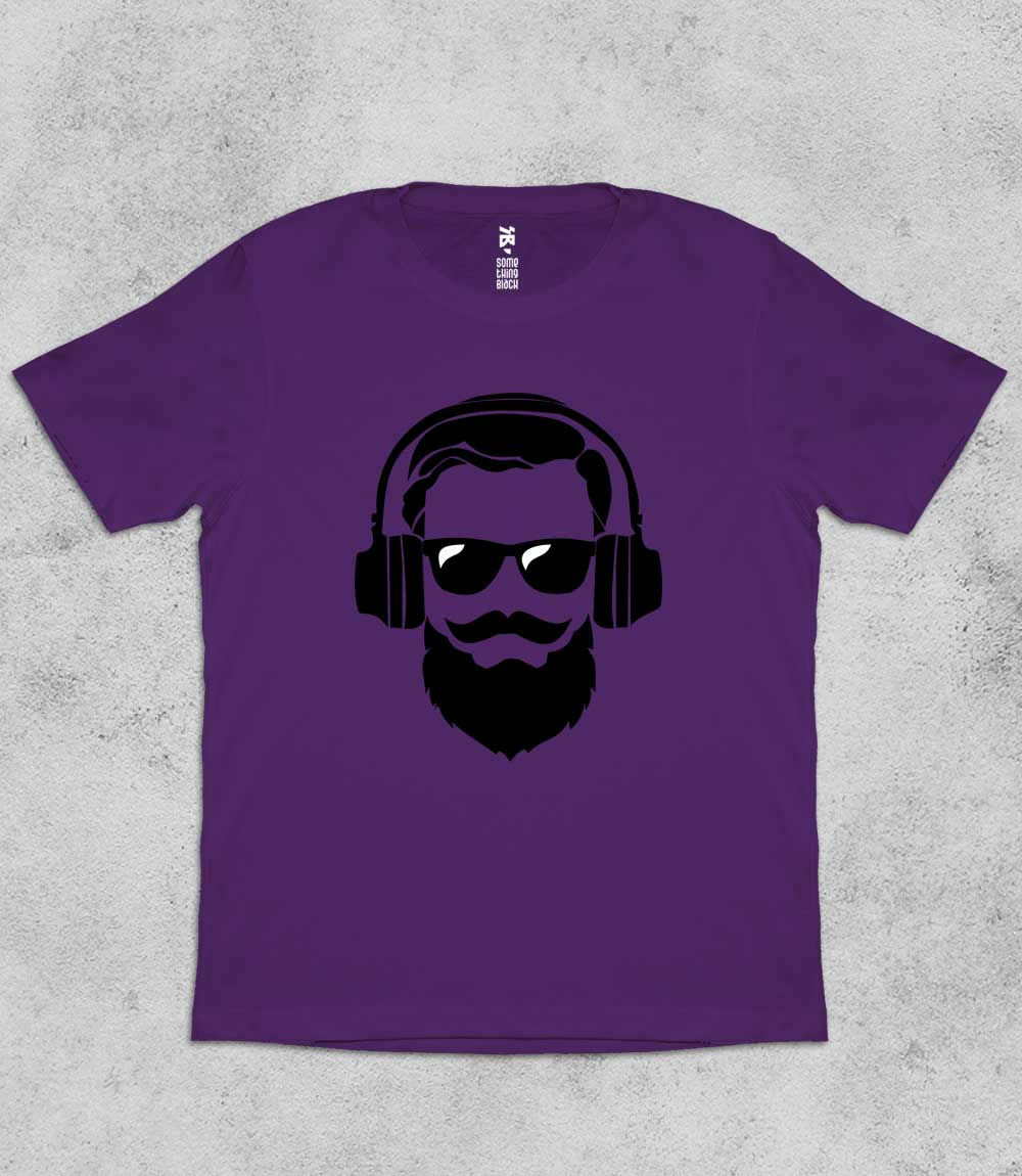 Beard & Music- Mens T-shirt