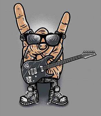 Rock Salute - Mens T-shirt