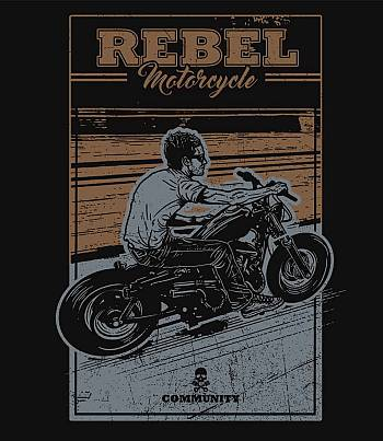 Rebel Motorcycle - Womens T-shirt