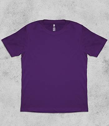 Purple Crew Neck - Mens T-shirt