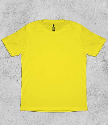 Yellow Crew Neck - Mens T-shirt