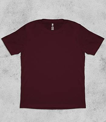Maroon Crew Neck - Mens T-shirt
