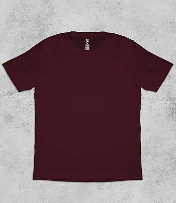 Maroon Crew Neck - Mens T-shirt