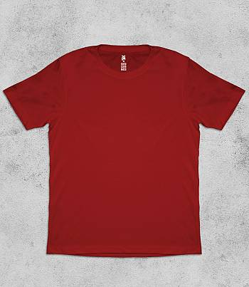 Red Crew Neck - Mens T-shirt