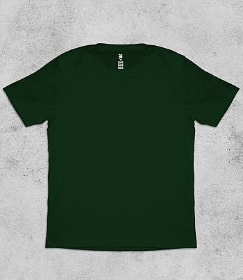Dark Green Crew Neck - Mens T-shirt