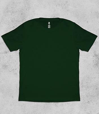 Dark Green Crew Neck - Mens T-shirt