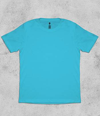 Light Blue Crew Neck - Mens T-shirt