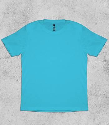 Light Blue Crew Neck - Mens T-shirt