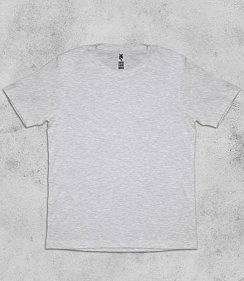 Grey Melange Crew Neck - Mens T-shirt