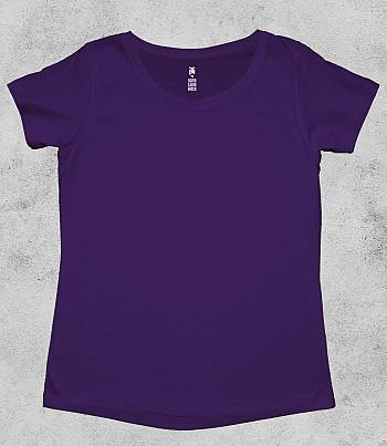 Purple Crew Neck - Womens T-shirt
