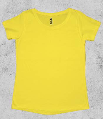Yellow Crew Neck - Womens T-shirt