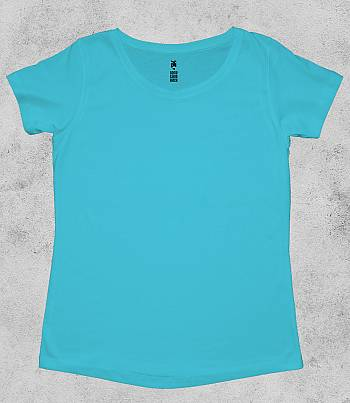 Light Blue Crew Neck - Womens T-shirt