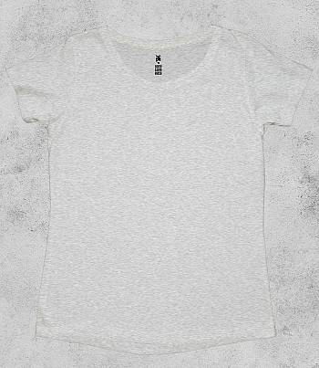 Grey Melange Crew Neck - Womens T-shirt