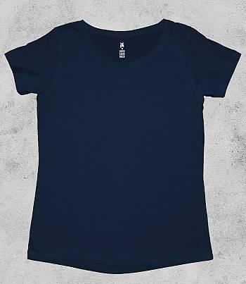 Navy Blue Crew Neck - Womens T-shirt