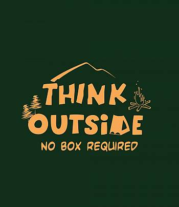 Think Outside- Mens T-shirt