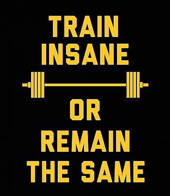 Train Insane- Mens T-shirt