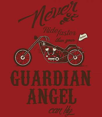 Never ride faster- Mens T-shirt